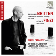 BRITTEN. Serenade for tenor, horn  & strings.<br>Nocturne<br>FINZI. Dies Natalis